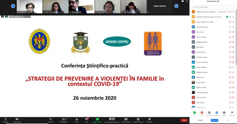 """Conferința ştiinţifico-practică """"Strategii de prevenire a violenței în familie în contextul COVID-19"""""""