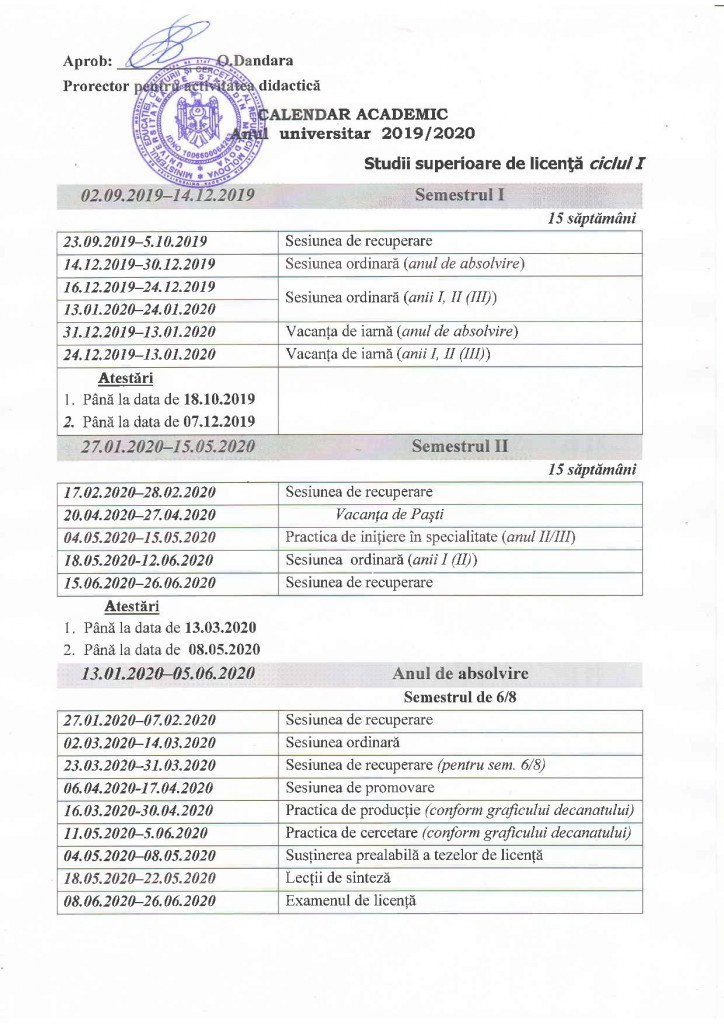 Calendar Academic 2019-2020 Licenta-page-001