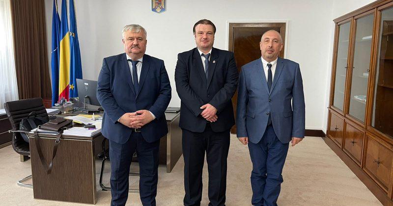 Rectorul Universității de Stat din Moldova, dr., conf. univ., Igor Șarov a avut o întrevedere cu Secretarul General al Guvernului României, Tiberiu Horațiu Gorun
