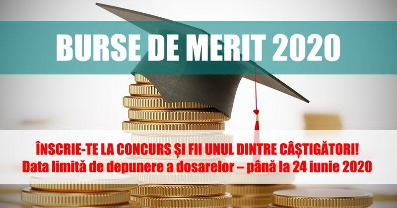 Anunț cu privire la concursul Burse de merit 2020 pentru studenții ciclului I și II
