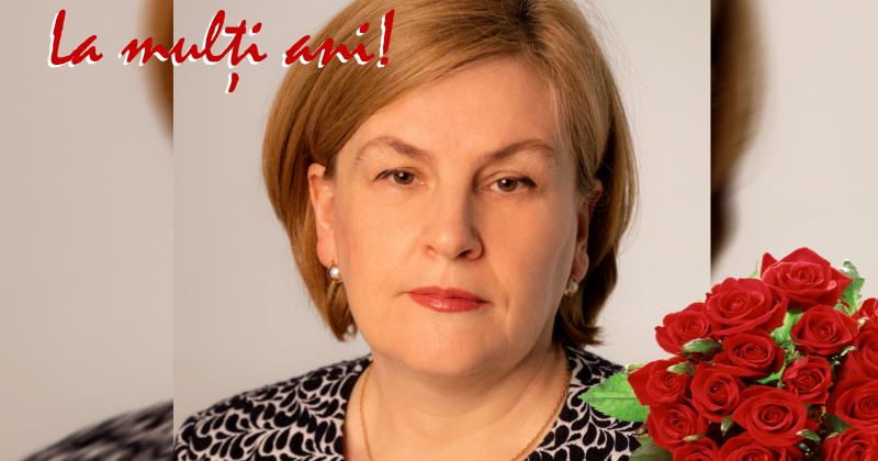 Mesaj de felicitare Dnei prorector Otilia Dandara cu ocazia zilei de naștere
